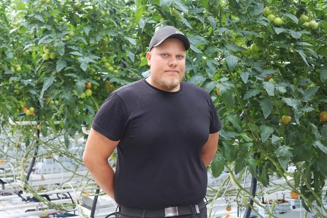 Pörtombon Alexander Österlund är tredje generationens växthusodlare. Det har ändå inte alltid varit en självklarhet för honom att satsa på växthusodling.