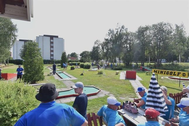 Finalerna i bangolf var i full gång under lördagseftermiddagen.
