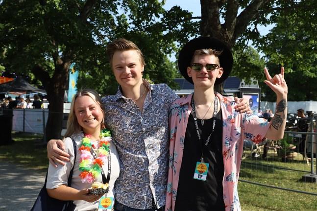 Amanda Hjorth, Dominic Hjorth och Jonas Mattsson är redo för livemusik i Vasa efter en lång väntan.