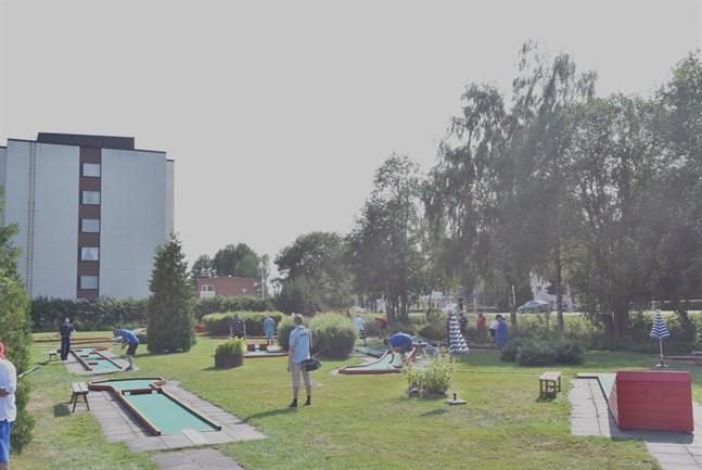 På den sista tävlingsdagen i FM-tävlingarna i bangolf var det utslagstävling som stod på programmet.