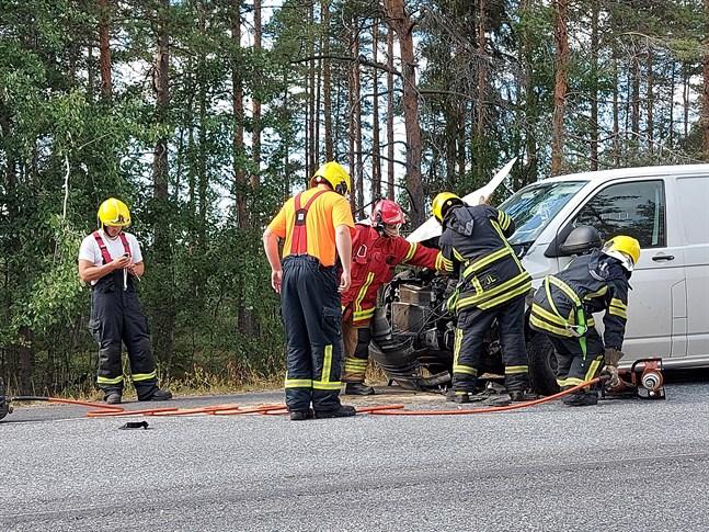 Olyckan skedde vid 15-tiden på söndagseftermiddagen.