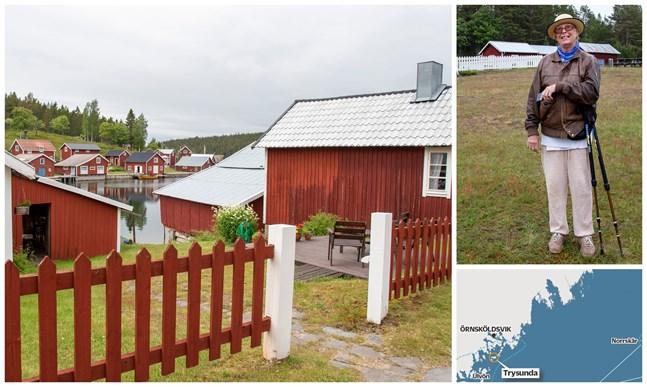 Ingrid Johansson, 80 år, är född på Trysunda och återvände hit efter ett liv och arbete på fastlandet. Hon är en av tre som bor på ön året runt.