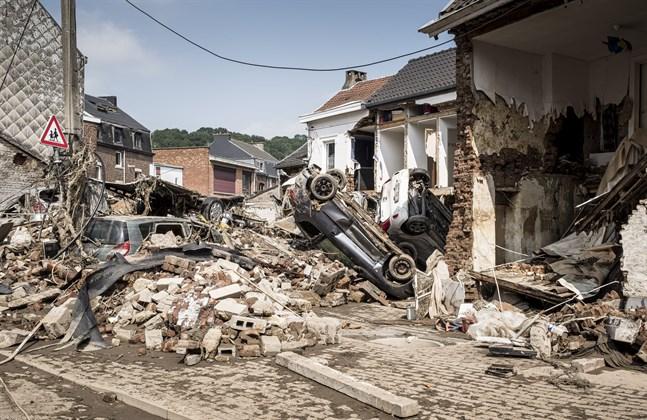 Förödelsen är enorm i de delar av östra Belgien som drabbades av förra veckans stora översvämningar.