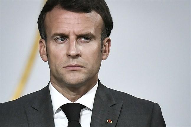 Frankrikes president Emmanuel Macrons telefon kan ha varit avlyssnad av det israeliska övervakningsprogrammet Pegasus. Arkivbild.