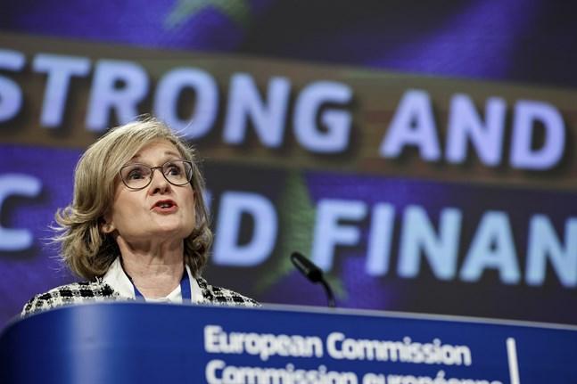 EU:s finansmarknadskommissionär Mairead McGuinness. Arkivbild.