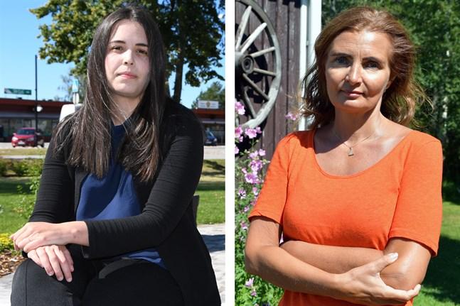 Sarah Åbonde och Annika Nyholm har båda rest till Närpes från Sverige denna sommar. De har två vitt skilda upplevelser av att resa till Finland.