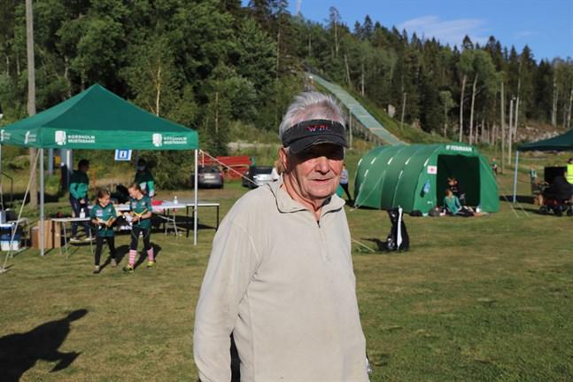 Leo Mård hörde till tävlingarnas äldsta deltagare.