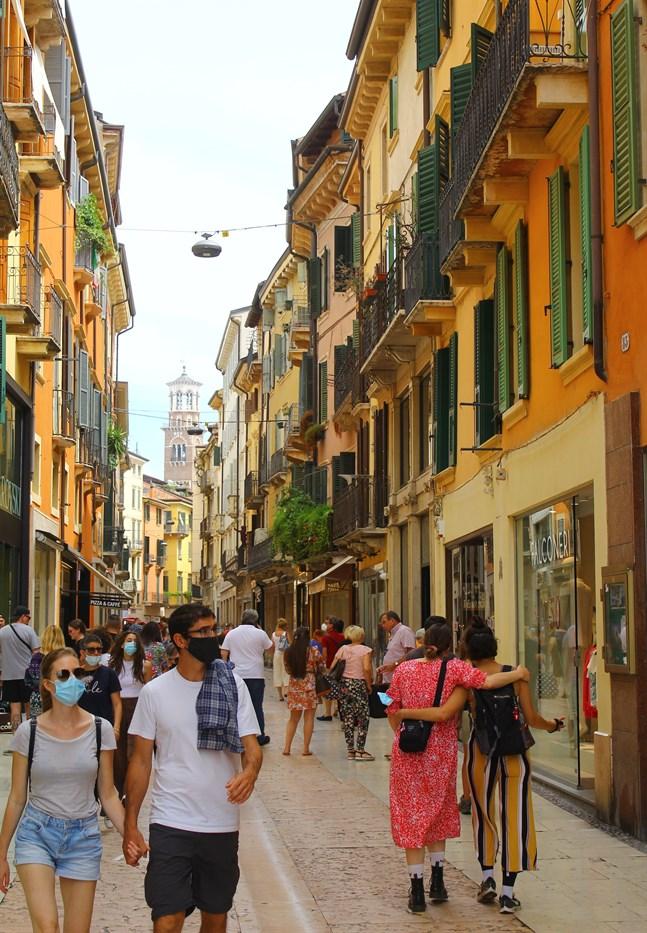En bild tagen under resan till Italien.