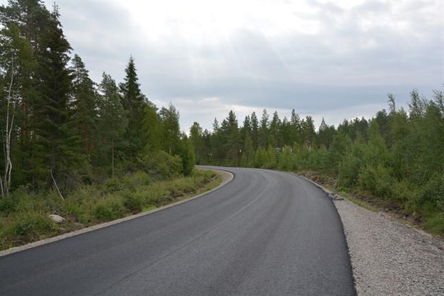 Korsnäsvägen-Bodbackavägen får ny asfalt.