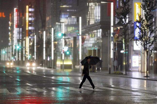 Tyfonen Hagibis drog in över Japan i oktober 2019. Över 100 människor dog. Arkivbild.