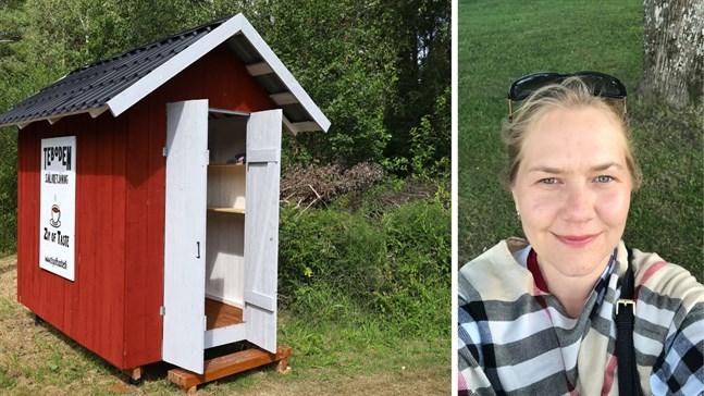 Maria Olin har märkt att det finns många små bodar runt om i Österbotten och satsade på att öppna en egen. – Teerna påminner om mitt hem, säger Olin som bor i Stockholm.