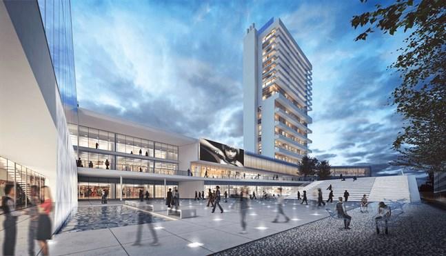 Multifunktionskvarteret Wasa Station innehåller även idrotts- och multifunktionslokaler, hotell, bostäder och affärslokaler som byggbolaget YIT svarar för.