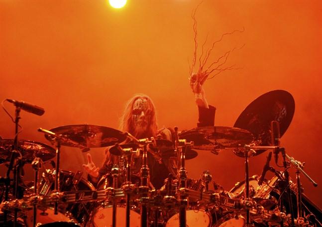 Joey Jordison under en konsert med Slipknot i Lissabon 2009.