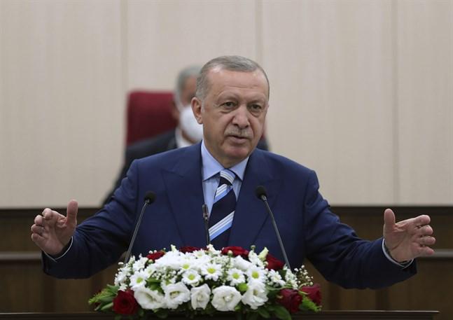 Turkiets president Recep Erdogan. Arkivbild.