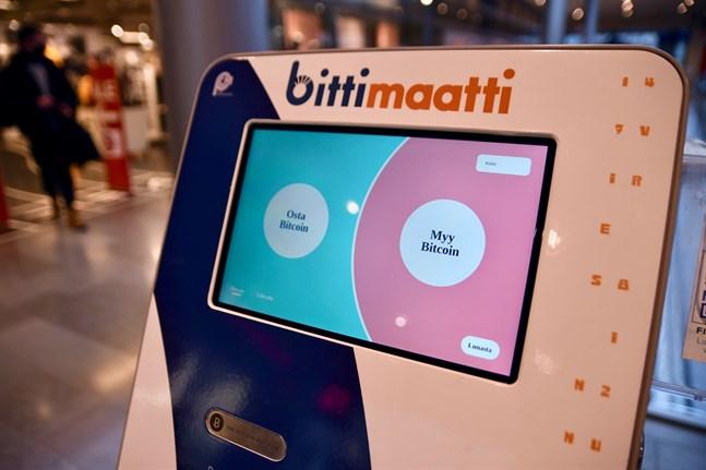 En av den inhemska kryptokoncernen Prasos bitcoinautomater.