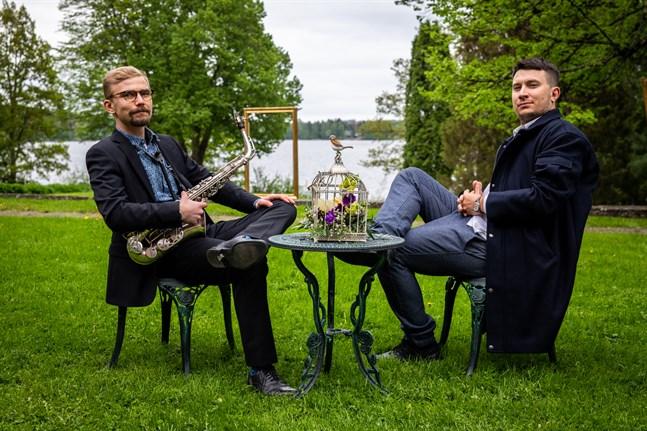 SÄX (Jesse Mast och Petteri Halme) spelar på Karleby Vinfest på fredag kväll.