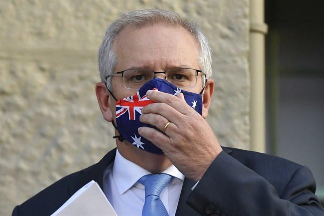Australiens premiärminister Scott Morrison tidigare i juli.