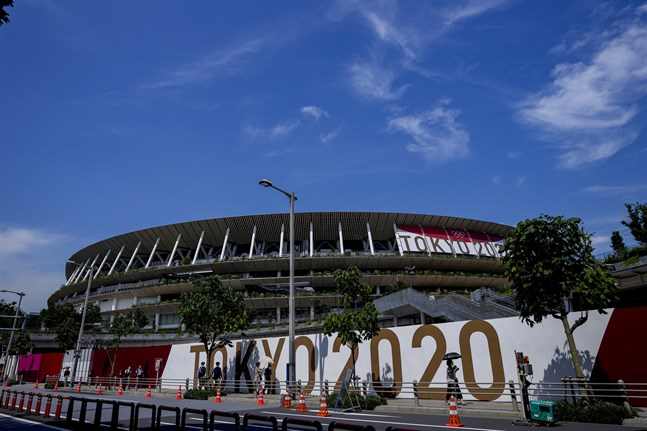 Covidfallen ökar runt om i Tokyo. Här friidrottsarenan.