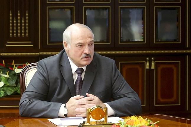Belarus president Aleksandr Lukasjenko under ett ministermöte i Minsk den 2 augusti.