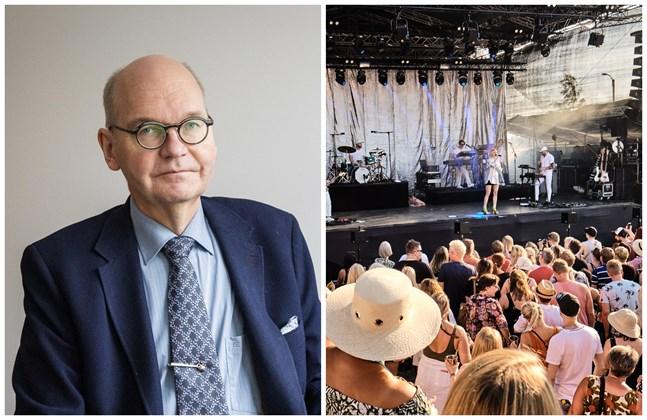 Heikki Kaukoranta, Vasa stads ledande överläkare, uppmanar alla som tänker delta i Vasa festival att väga för- och nackdelar. Bilden från Vasa festival är tagen 2019.