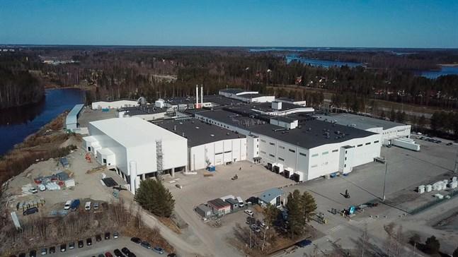 Snellmans fabrik på Granholmen i Jakobstad.