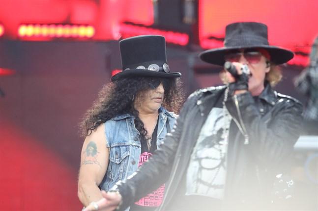 Guns N' Roses på Ullevi 2018. Nu släpper de en ny singel. Arkivbild.