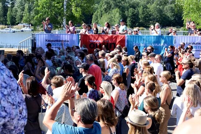 Massexponeringar ägde rum på Vasa festival.