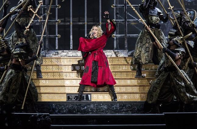 Madonna när hon spelade i Stockholm 2015. Arkivbild.