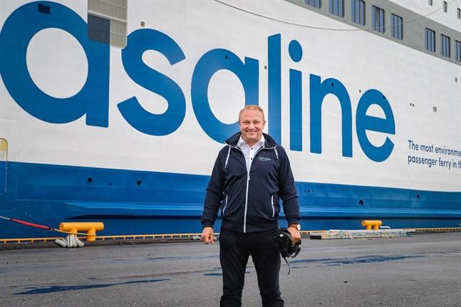 Max Jansson från Visit Vasa säger att Wasalines nya färja kan göra att fler kryssningsfartyg ser Vasa som ett möjligt besöksmål.