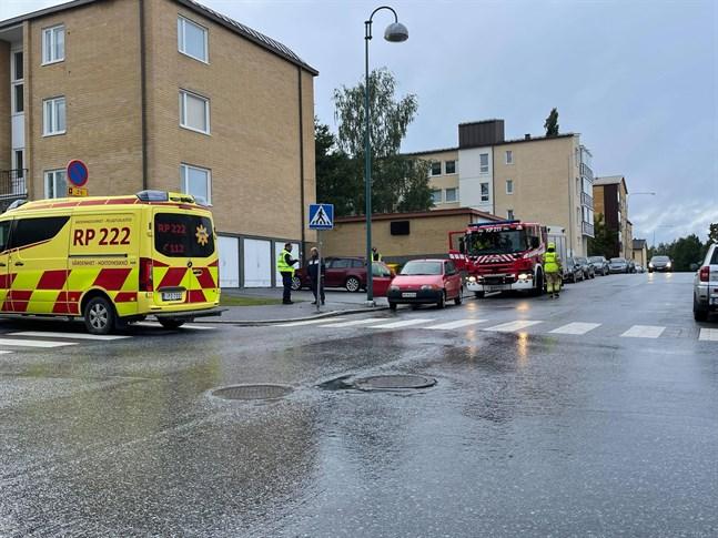 Strax innan klockan åtta på morgonen inträffade en trafikolycka i korsningen Choraeusgatan-Södermalmsgatan i centrum av Jakobstad.