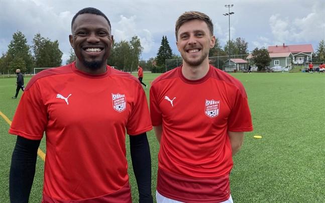 Sherwin Emmanuel, till vänster, och Charlie Crane är nya spelare i Sporting Kristina.