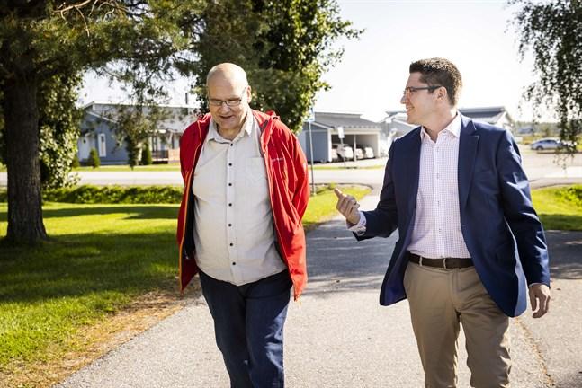 Håkan Knip och Mikko Ollikainen sätter människan, livskraften och välbefinnandet i fokus i Malax.