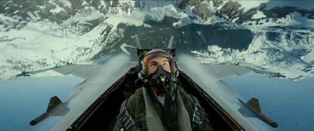"Tom Cruise som Pete ""Maverick"" Mitchell i kommande filmen ""Top gun: Maverick"". Arkivbild."