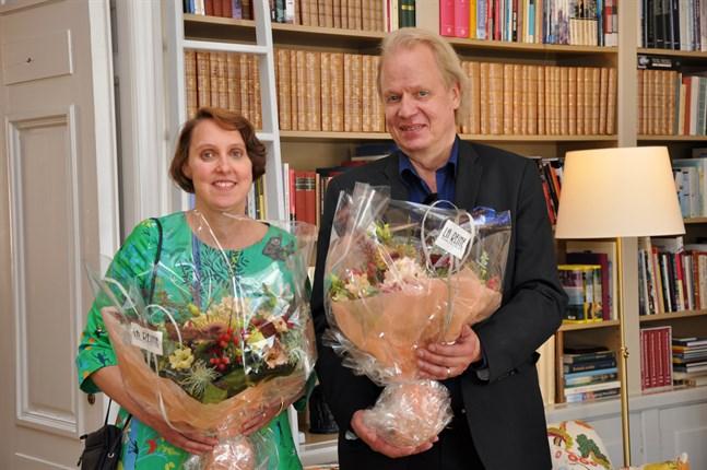 Annika Sandelin och Peter Sandström efter prisceremonin.