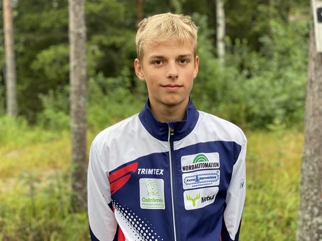Kasper Bergström tog karriärens första FM-medalj på söndagen i Saarijärvi.