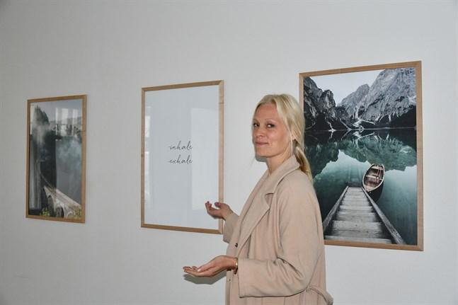 Studion ska vara en plats som har en lugnande inverkan, säger företagaren Kaisa Mäkinen.