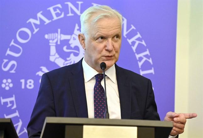 Olli Rehn är chefdirektör för Finlands bank.