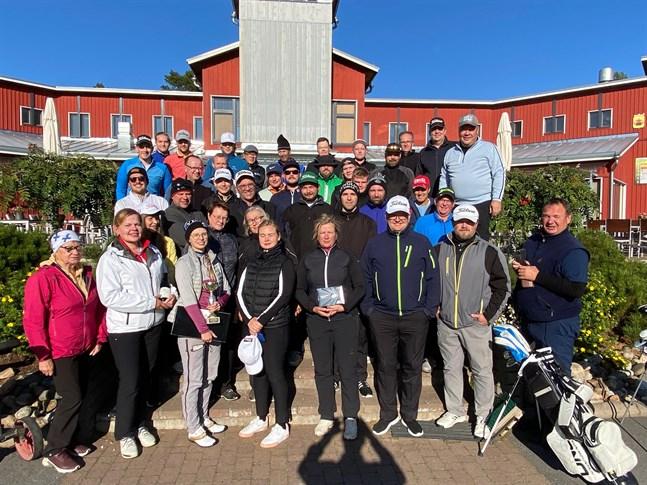 Fyrtiotalet spelare tävlade i Terjärv Open i lördags.