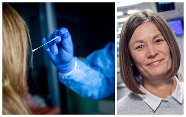 Trycket på coronatestningen är stor, säger Saija Seppelin, överskötare för akutserviceområdet på Vasa centralsjukhus. Därför satsar nu Vasa på enbart drop in-testning utan remiss eller tidsbokning.