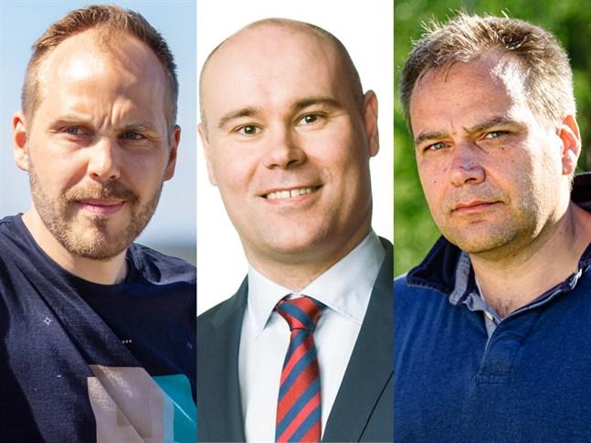 Någon i topptrion Martin Norrgård, Mathias Kass och Steven Frostdahl blir ny stadsdirektör i Nykarleby.