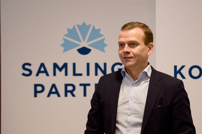 Nästan 50 procent av företagarna uppger att de stöder Samlingspartiet. Partiets ordförande Petteri Orpo på bilden. Arkivbild.