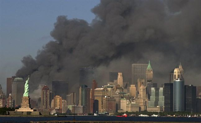 På tjugoårsdagen av terrordåden i USA den 11 september 2001 släpptes de första hemligstämplade dokumentet om attacken. Arkivbild.