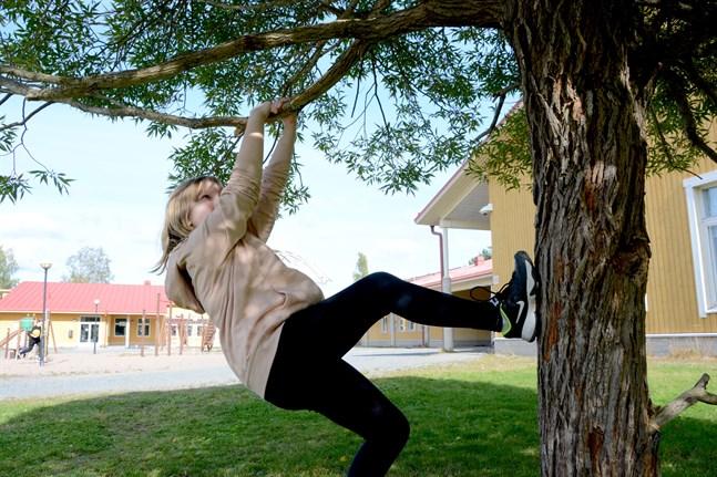 Kaskö satsar på hobbyer som ger motionsglädje. Sofia Norrgård är på väg uppåt.