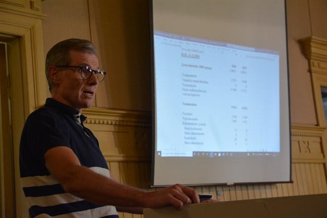 Ekonomidirektör Esa Högnäsbacka föreslår högre skatt för Kasköborna.