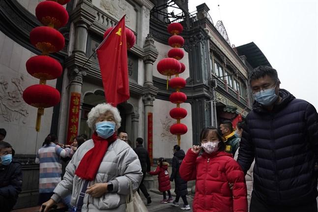Smittspridning i Kina slår mot återhämtningen. Arkivbild