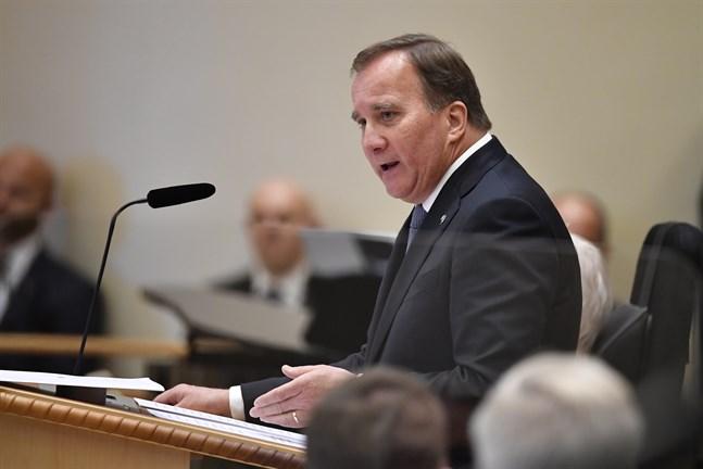 Statsminister Stefan Löfven (S) avger regeringsförklaringen i samband med riksmötets öppnande. I dag gör han sin sista partiledardebatt i plenisalen.