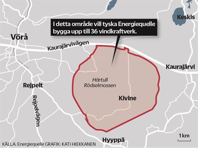 I det här området kan det i framtidens finnas uppemot 36 vindkraftverk.