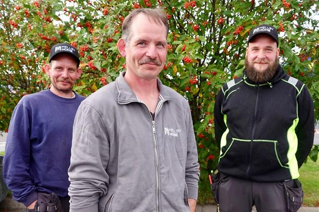 Hans-Peter Holm, Ulf Holm och Benny Storfors känner varandra väl och är rätt lika. Det är en fördel när man ska driva företag ihop, säger de.