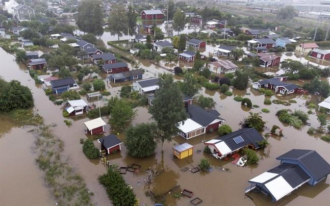 Översvämningarna i Gävle den 18 augusti.