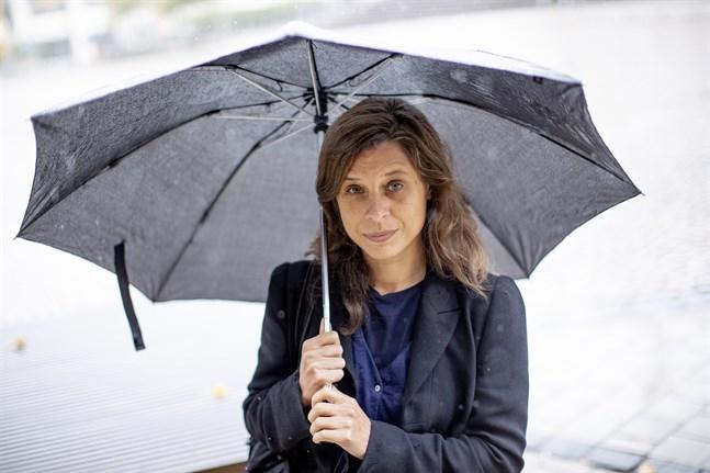 """Catherine Belton fotograferad i Borås när hon besökte Sverige i samband med publiceringen av """"Putins krets""""."""